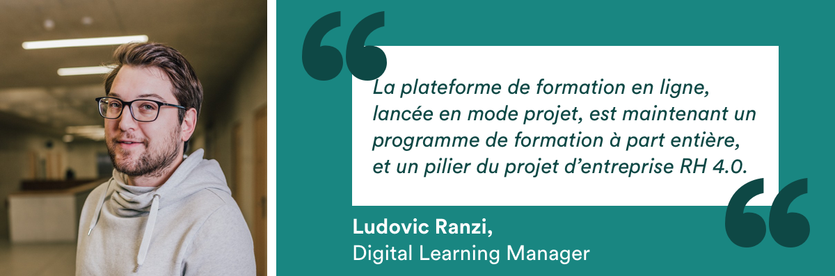 Ludovic Ranzi, Digital Learning Manager chez CIMO