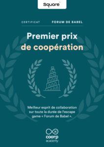 Premier Prix de Coopération pour la plateforme de digital learning Square Institute